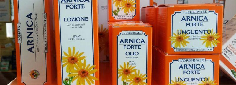 promozione Arnica pomata gel - contusioni dolori Erbolandia Vicenza