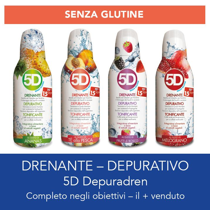 Promozione 5D Depuradren - Offerta depurativo drenante Erbolandia Vicenza