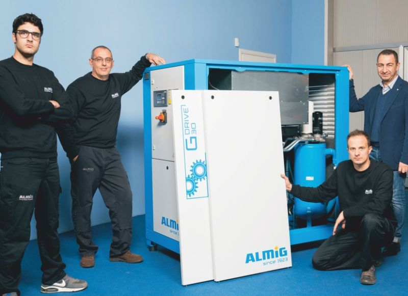 ALMIG offerta assistenza tecnica compressori aria compressa italia almig