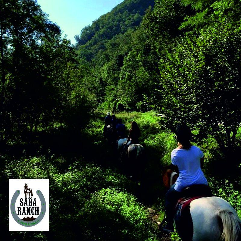 offerta escursione a cavallo lecco - promozione pranzo agriturismo lecco - saba ranch