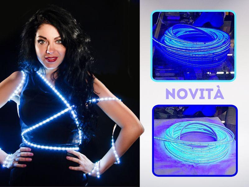 offerta strisce led blu - promozione striscia luminosa led blu - elettricità santori