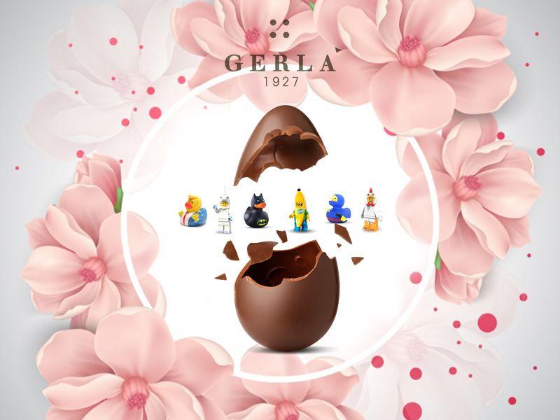 Offerta nuova collezione Pasqua 2018 - Promozione uova di cioccolato decorate Minifigures