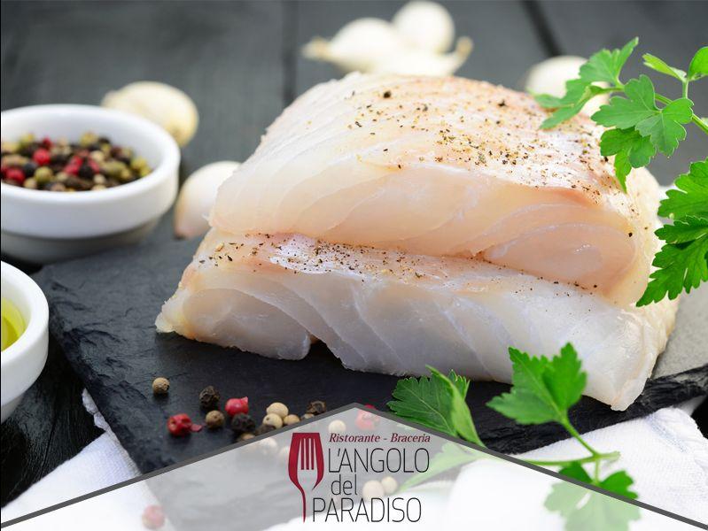 Offerta menù cena pesce - Promozione cena baccalà - Ristorante Pizzeria L'angolo del Paradiso