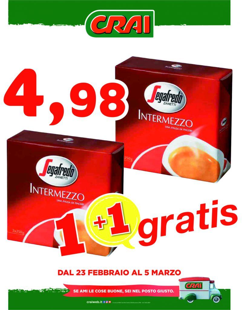 Offerta caffè segafredo intermezzo - promozione caffè moka segafredo intermezzo
