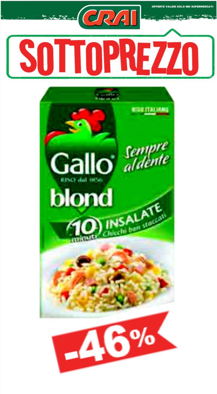 offerta riso gallo blond - occasione riso gallo blond insalate crai