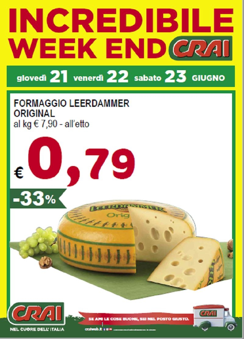 offerta prodotti Crai metà prezzo Udine - occasione alimentari Crai prodotti scontati udine