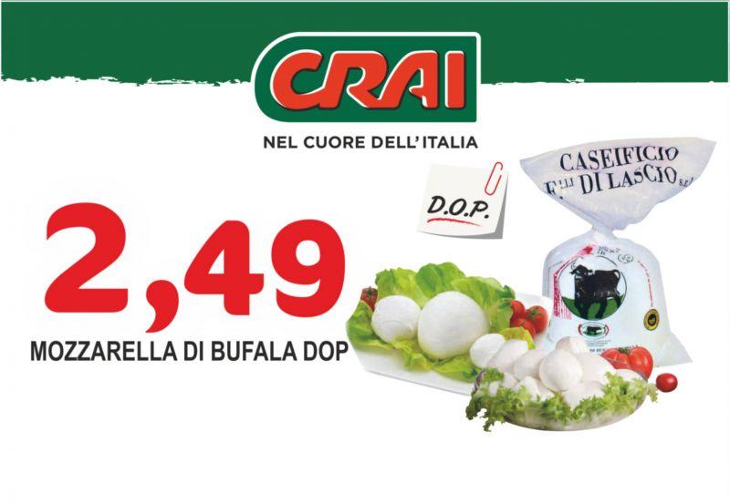 offerta mozzarella di bufala dop - occasione mozzarella di bufala dop ciuffo crai