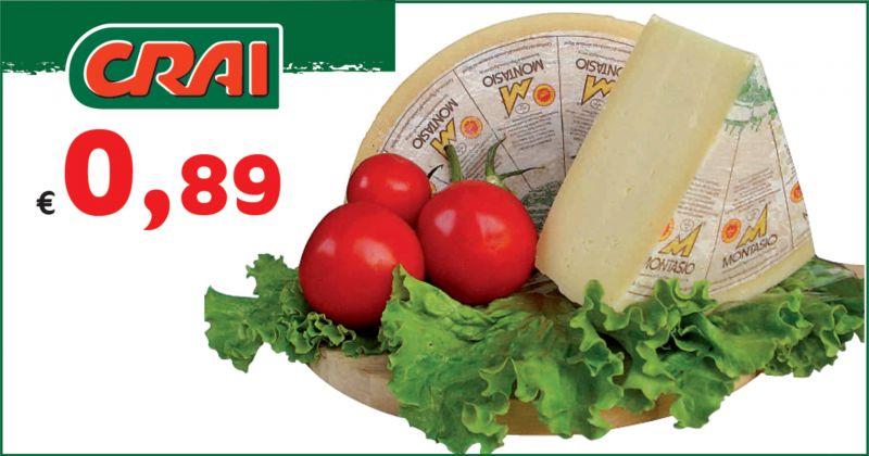 offerta vendita formaggio montasio mezzano dop - promozione formaggio da tavola montasio UD