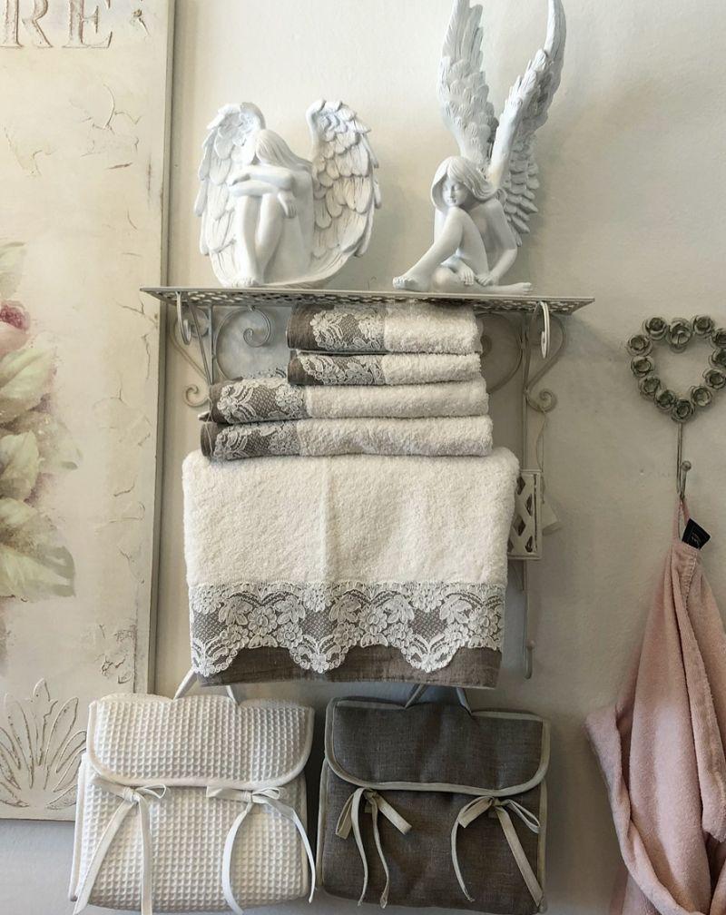 offerta biancheria per la casa Padova - occasioni asciugamani in pizzo Padova