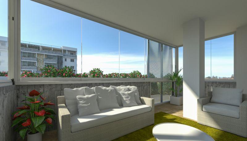 edilizia innovativa - produzione vetrate panoramiche - vetrate panoramiche per balconi