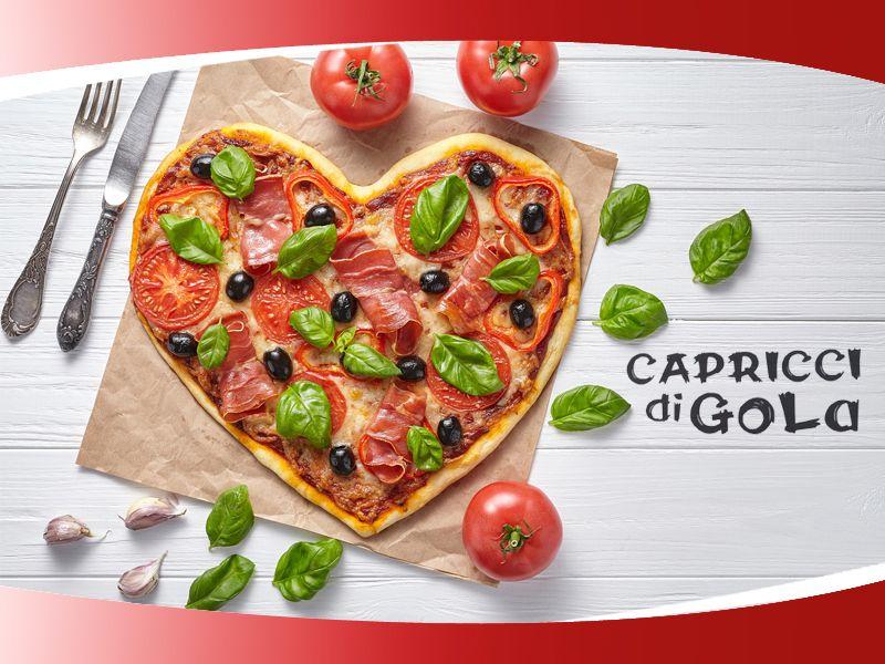 Offerta Pranzi Veloci e Pizze - Promozione Attività Pizzeria Vendita Pizze Capricci di Gola
