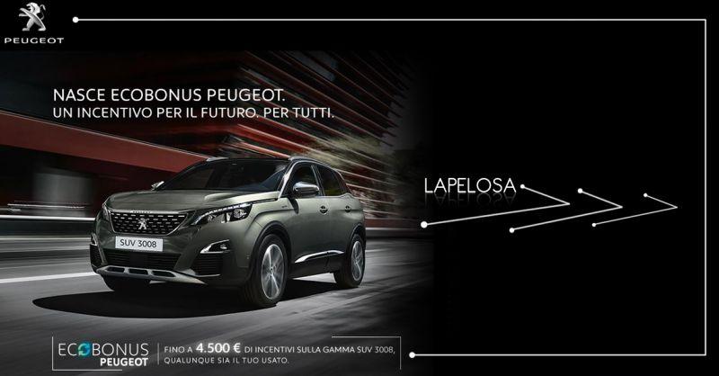 Offerta Vendita Suv 3008 Peugeut Ecobonus Atena Lucana - Lapelosa