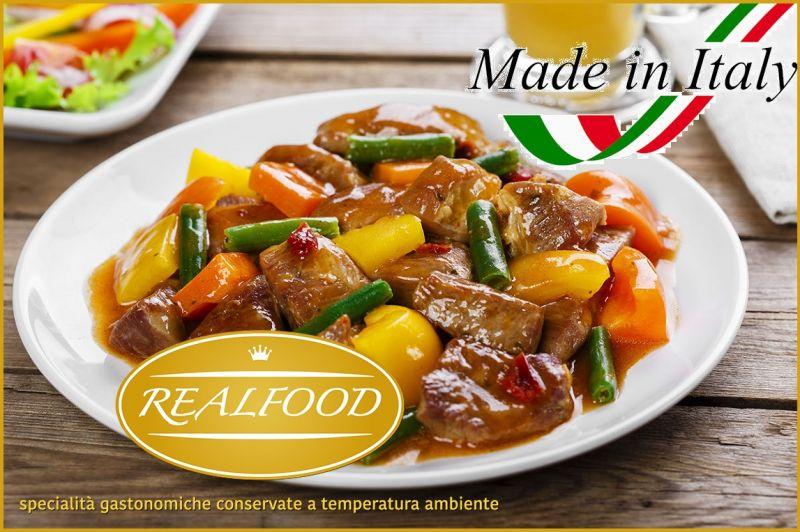 REALFOOD offerta vendita prelibatezze gastronomiche - vendita bocconcini di vitello con verdure