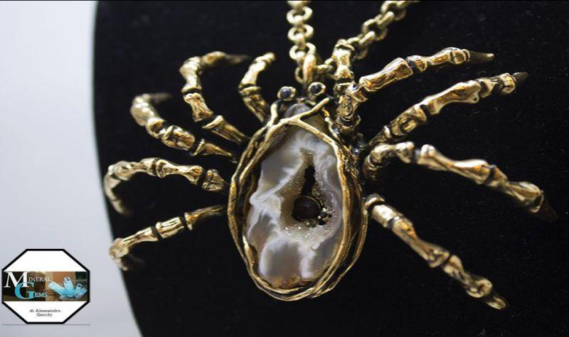 offerta Mineral Gems Bari gioielleria collana ottone oro ragno promozione sconto granato