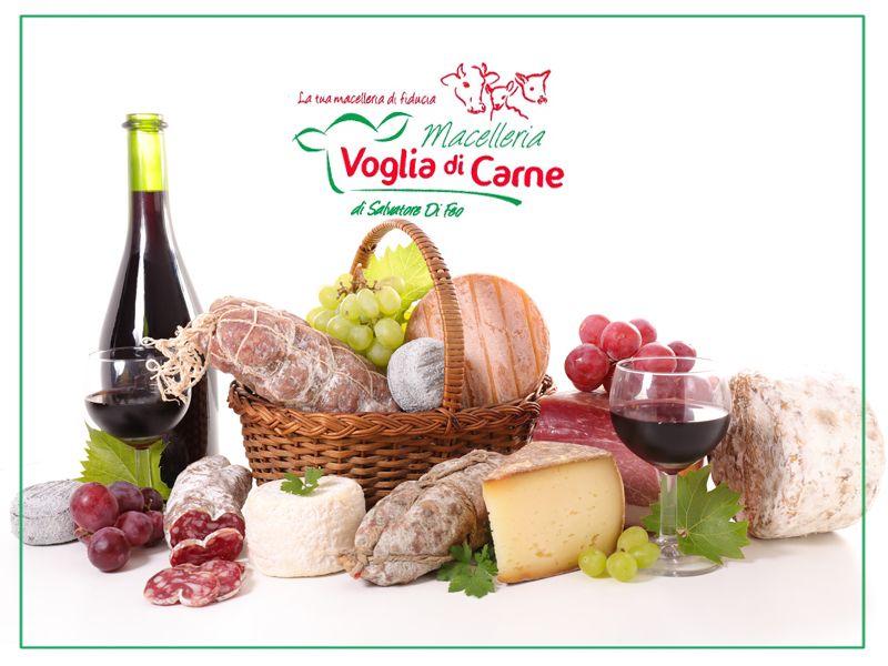 Offerta vendita ceste prodotti locali Giffoni Valle Piana -  Voglia di Carne