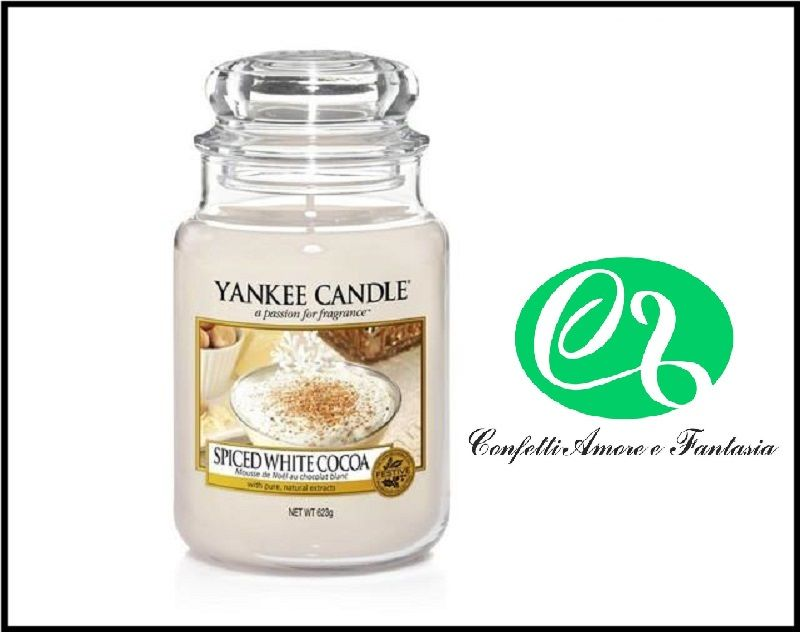 offerta vendita on line Yankee Candle  candele profumate Spiced White Cocoa - Giara Grande
