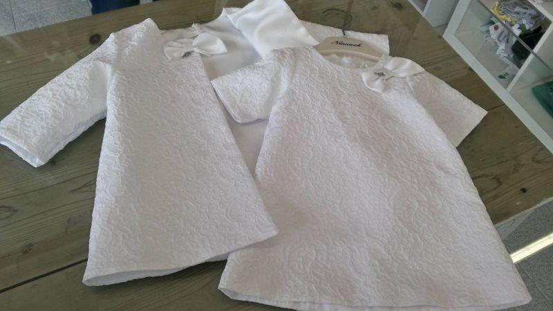 Offerta abito neonata bianco- Abito bimba NINNAOH
