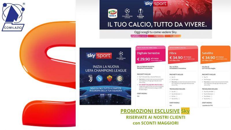 COMILAZIO Offerta SKY COME VUOI - Promozione vendita miglior offerta abbonamento SKY