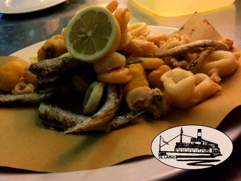 offerta fritto misto lago di como il lario-promozione menu di pesce lungo lago como il lario