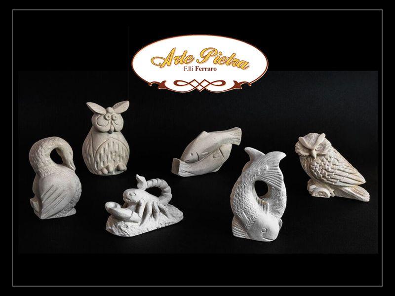 Offerta realizzazione animaletti in pietra leccese - Promozione sculture in pietra di animali