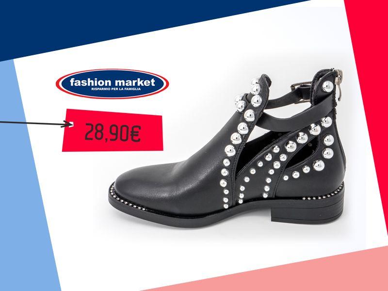 offerta scarpe donna Stivaletti con borchie - occasione calzature da donna Fashion Market