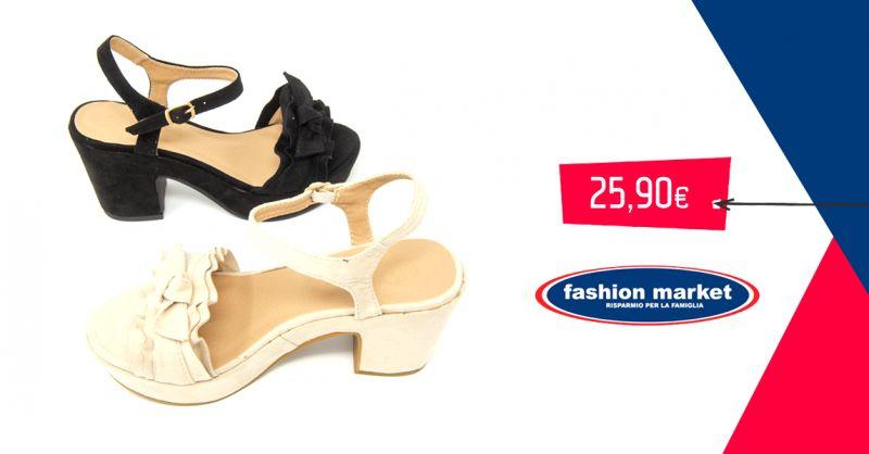 offerta Fashion Market sandalo donna collezione estate - occasione calzature estive donna
