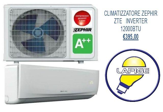 offerta climatizzatore ZEPHIR ZTE INVERTER-promozione vendita online condizionatori-Lapige