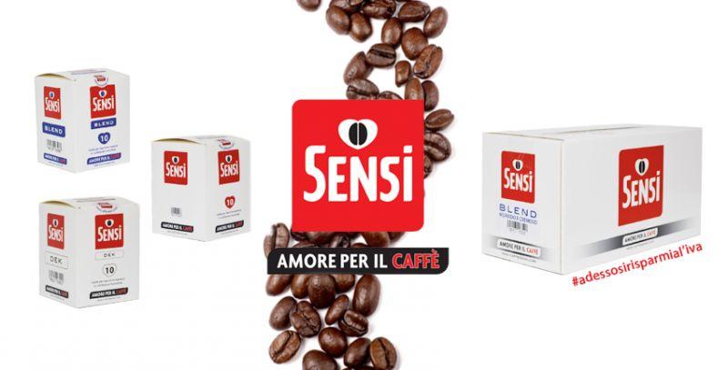 offerta fornitura caffe piccoli formati - promozione risparmia iva caffe sensi