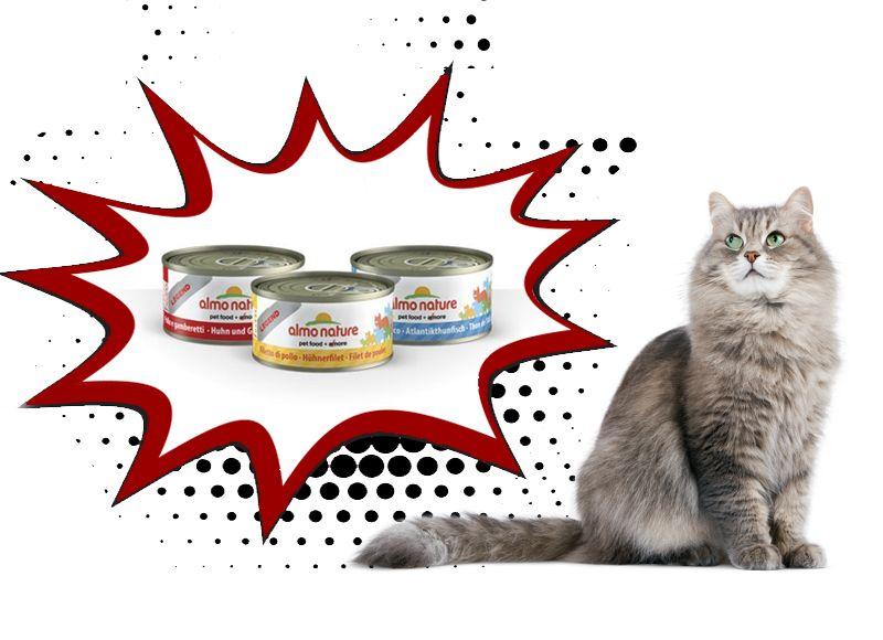 Offerta vendita scatolette per gatti cibo naturale - Almo Nature