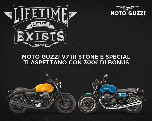 Moto Guzzi V7III Stone e Special con bonus di 300?!