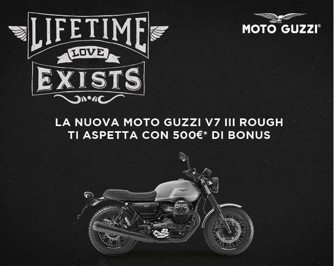 500? di bonus su Moto Guzzi V7III Rough!