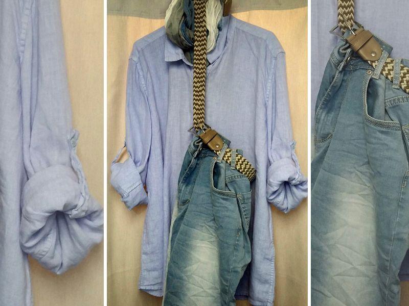 Offerta vendita camicia puro lino uomo - Promozione distribuzione jeans uomo estivi