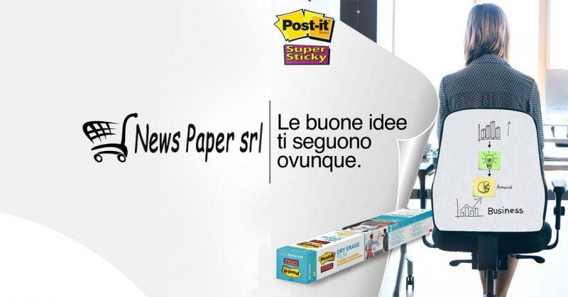 Offerta vendita Lavagne adesive Post It per riunioni - Promozione distribuzione lavagne adesive