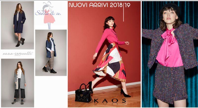 Offerta vendita abiti invernali donna collezione Kaos e  Anna Seravalli a Treviso - Stella & Co