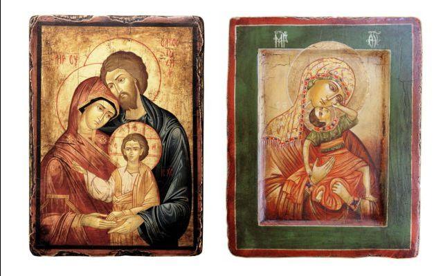 Offerta vendita icone sacre antichizzate e scavate - Offerta acquisto medaglie iconografiche