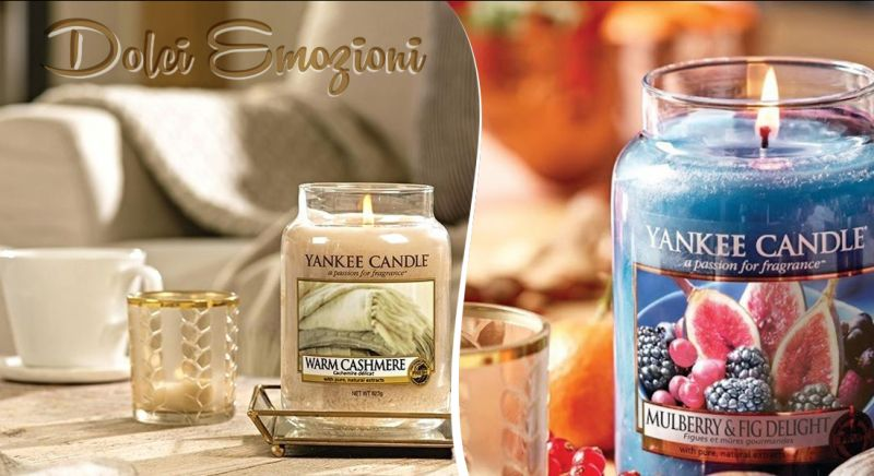 Offerta vendita candele yankee candle Warm Cashmere a Brindisi - Dolci Emozioni
