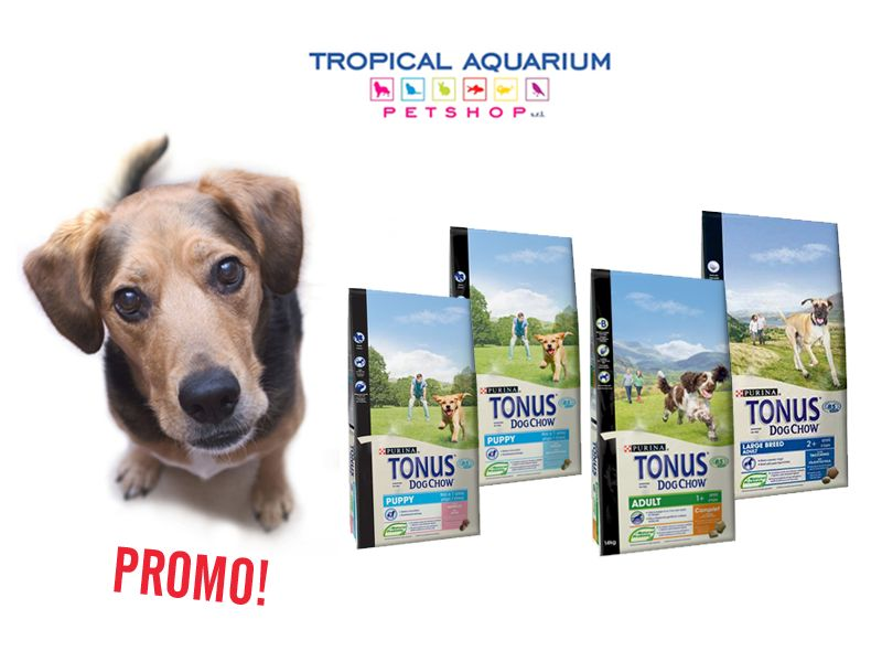 offerta linea purina Tonus Dog Chow Puppy - promozione sacco Purina Tonus Dog Chow Adult