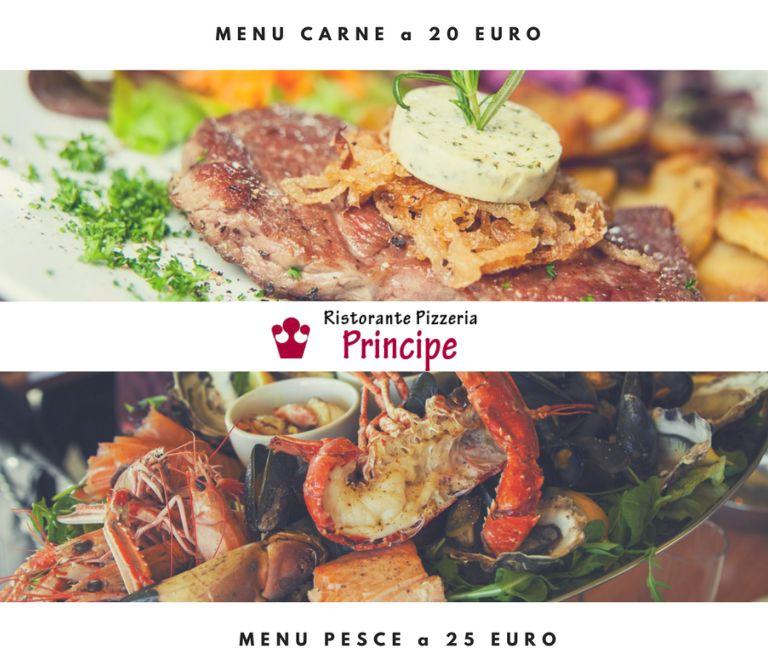 offerta sconto ristorante menu completo carne e pesce -promozione cucina piatti di terra e mare