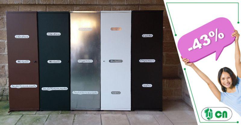Offerta vendita armadietto raccolta differenziata Trix Guagnano - C. N. Infissi