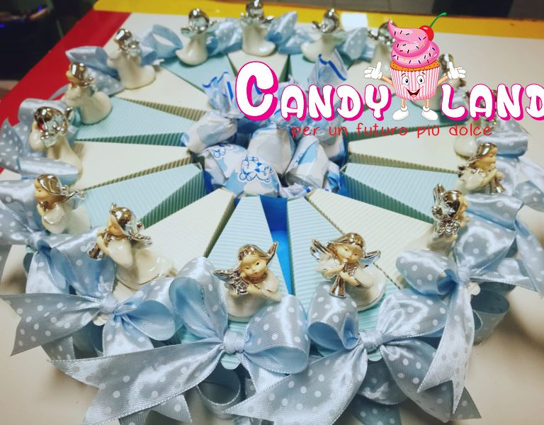 offerta bomboniera a torta angeli 15 pezzi-promozione bomboniera battesimo angeli