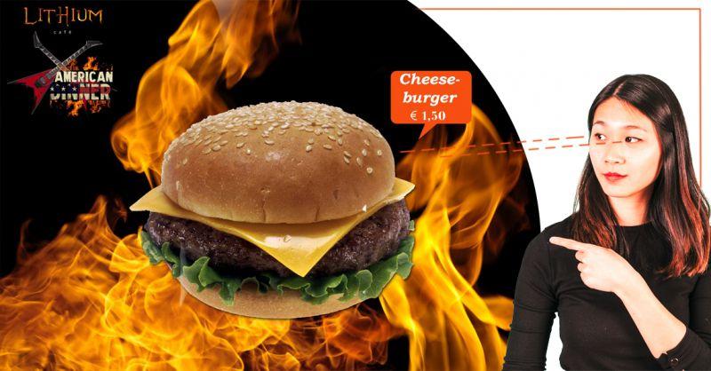 Offerta vendita cheese burger american dinner - Promozione distribuzione panini american dinner