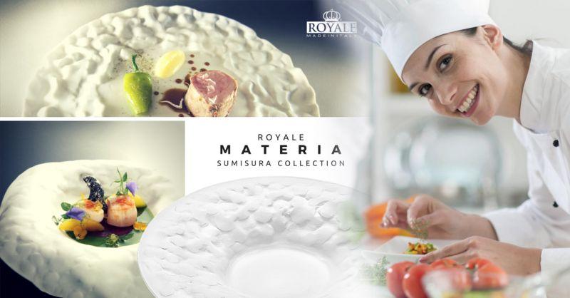 Offerta vendita piatti professionali per chef - Occasione distribuzione piatti Royale sumisura