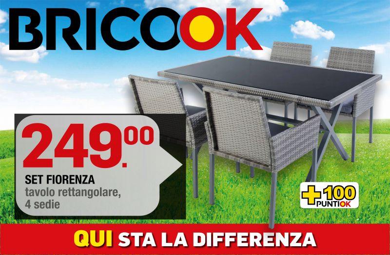 Brico ok - offerta SET FIORENZA - promozione tavoli da giardino