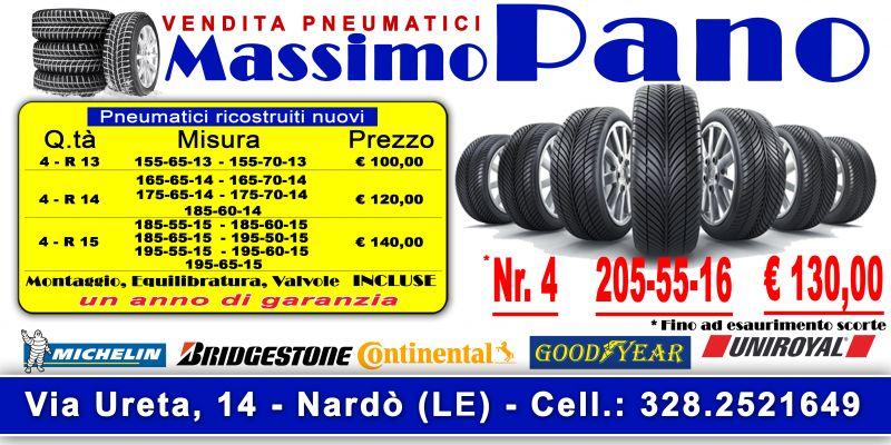 Offerta vendita e distribuzione pneumatici ricostruiti nuovi a Nardo' in provincia di Lecce