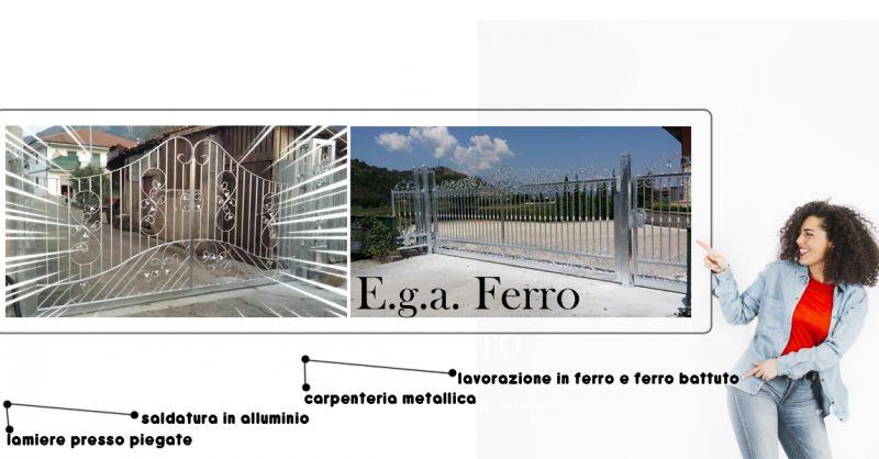 Offerta lavorazioni in ferro battuto per esterno casa Teggiano - E.G.A. Ferro