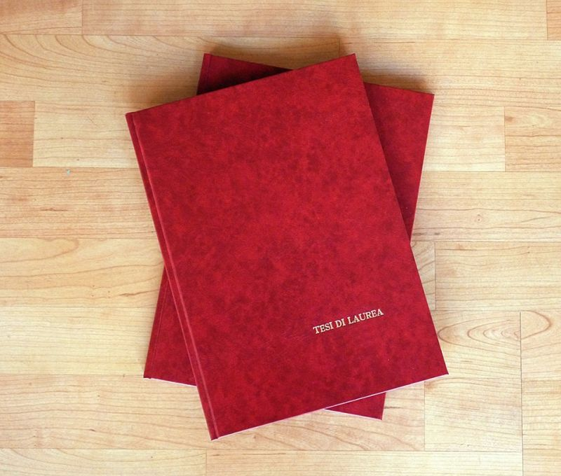 Offerta rilegatura tesi di laurea e fascicoli Corciano - La Pergamena