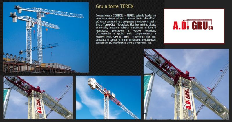 A.D. GRU PROMOZIONE NOLEGGIO GRU A TORRE TGM  TEREX  - OFFERTA NOLEGGIO GRU CATTANEO GELCO
