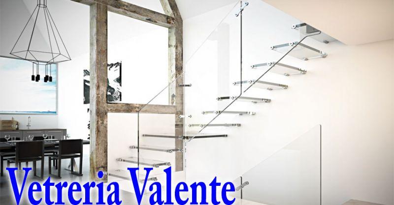 offerta realizzazione scale in vetro temperato Roma - occasione scale in cristallo temperato