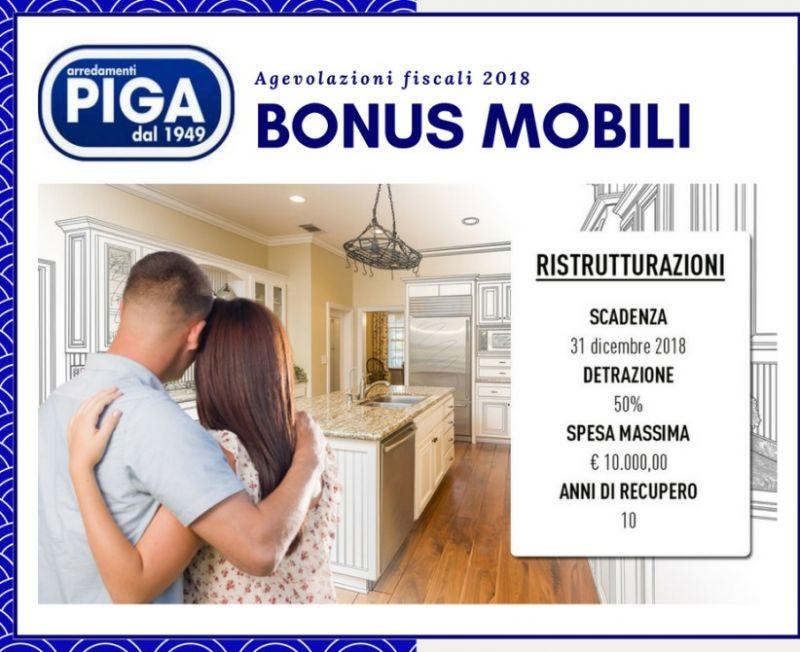 PIGA ARREDAMENTI GUSPINI - BONUS MOBILI E AGEVOLAZIONI FISCALI 2018