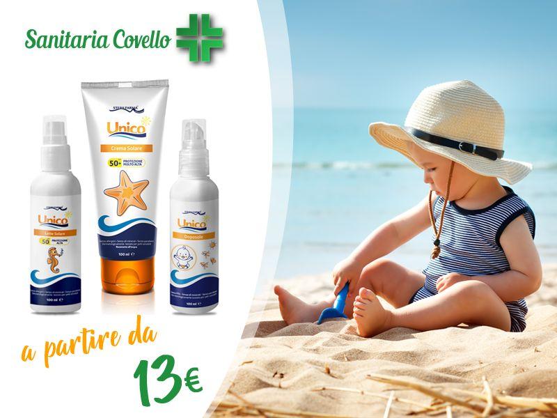 offerta solari bimbi unico sterilfarma - promozione crema solare doposole bimbi montalto uffugo